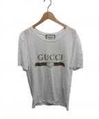 GUCCI()の古着「ロゴウォッシュドオーバーTシャツ」 ホワイト