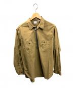 WORKERS(ワーカーズ)の古着「ジップワークシャツ」|ライトブラウン