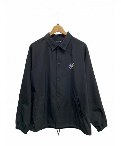 RAGEBLUE(レイジブルー)RAGEBLUE (レイジブルー) グラフィックコーチジャケット ブラック サイズ:L 未使用品の古着・服飾アイテム