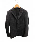 LARDINI()の古着「テーラードジャケット」|グレー×ブラウン