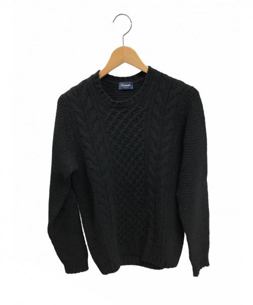 Drumohr(ドゥルモア)Drumohr (ドルモア) ケーブルニット ブラック サイズ:46(Mサイズに該当)の古着・服飾アイテム