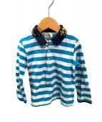 GUCCI(グッチ)の古着「ラガーシャツ」|ブルー×ホワイト