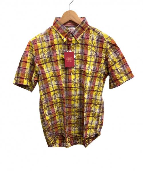 J.PRESS(ジェイプレス)J.PRESS (ジェイプレス) 半袖BDシャツ イエロー サイズ:M 未使用品 チェックの古着・服飾アイテム
