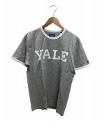 ()の古着「プリントトリムTシャツ」 ライトグレー