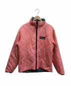 WILD THINGS(ワイルシングス)の古着「リバーシブル中綿ジャケット」|ピンク/グレー