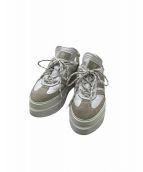 adidas(アディダス)の古着「厚底スニーカー」|グレー×ホワイト
