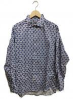 Paul Stuart(ポールスチュアート)の古着「総柄シャツ」|ブルー