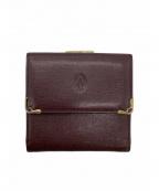 Cartier(カルティエ)の古着「3つ折り財布」|ボルドー