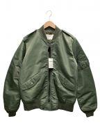 AVIREX()の古着「L-2コマーシャルフライトジャケット」|セージグリーン