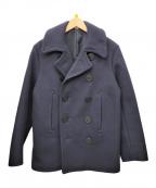 BUZZ RICKSON'S(バズリクソンズ)の古着「ウールメルトンPコート」 ネイビー