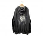Y-3(ワイスリー)の古着「スカルアートフード」 ブラック