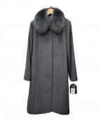 SAGA FURS(サガファーズ)の古着「カシミヤコート」|グレー