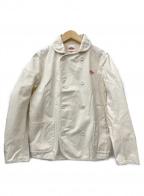 DANTON()の古着「コットンキャンバス ラウンドカラー Wボタンジャケット」|アイボリー