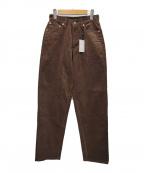 leno(リノ)の古着「CORDUROY LOOSE TAPERED PANTS」|ブラウン