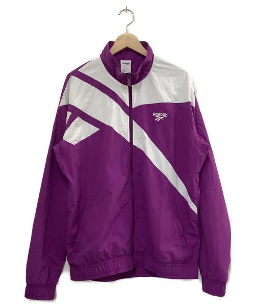 REEBOK CLASSIC(リーボック クラシック)REEBOK CLASSIC (リーボック クラシック) ベクタートラックトップジャケット パープル×ホワイト サイズ:O 未使用品の古着・服飾アイテム
