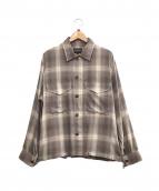 PENDLETON(ペンドルトン)の古着「CPO シャツジャケット」|ブラウン×グレー