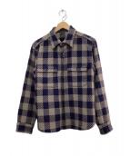 TENDERLOIN(テンダーロイン)の古着「ウールシャツジャケット」|グレー×ネイビー