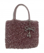 ANTEPRIMA(アンテプリマ)の古着「ワイヤーハンドバッグ」|ピンク