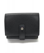 ()の古着「3つ折り財布」 ブラック