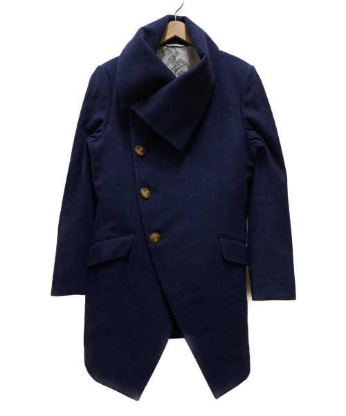 Vivienne Westwood man(ヴィヴィアンウエストウッドマン)Vivienne Westwood man (ヴィヴィアンウエストウッドマン) ミントカラーコート ネイビー サイズ:48 冬物の古着・服飾アイテム