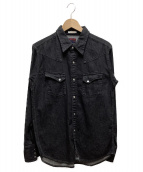 BRU NA BOINNE(ブルーナボイン)の古着「デニムコウモリシャツ」|ブラック