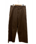 AURALEE(オーラリー)の古着「WASHED FINX CHINO WIDE PANTS」|ブラウン