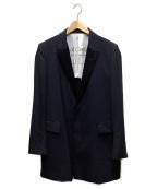 Robes&Confections(ローブスアンドコンフェクションズ)の古着「撥水ウールトロピカルロングジャケット」|ネイビー