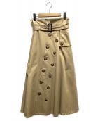 Ameri VINTAGE(アメリビンテージ)の古着「トレンチスカート」|ベージュ