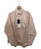 AURALEE(オーラリー)の古着「フィンクスシャトルボタンダウンシャツ」|ピンク