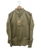 ORGUEIL(オルゲイユ)の古着「ボタンダウンシャツ」|カーキ