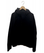 Descente ALLTERRAIN(デサントオルテライン)の古着「ストレッチフーデッドフリースジャケット」 ブラック