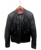 Lewis Leathers(ルイスレザーズ)の古着「カスタムホースハイドレザージャケット」|ブラック