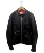 Lewis Leathers(ルイスレザーズ)の古着「カスタムシングルライダースジャケット」|ブラック