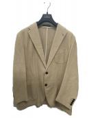 TAGLIATORE(タリアトーレ)の古着「コットンリネンホップサックジャケット」 ベージュ