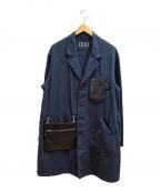 PORTER×B印 YOSHIDA(GS)(ポーター×ビージルシヨシダ)の古着「ショップコート」 ネイビー