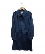 UNITED TOKYO(ユナイテッドトウキョウ)の古着「ボンディングギャバトレンチコート」 ネイビー