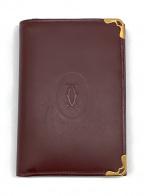 Cartier(カルティエ)の古着「3つ折り財布」 バーガンディー