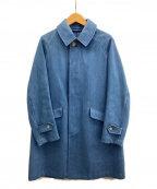 ORCIVAL()の古着「デニムステンカラーコート」 ブルー