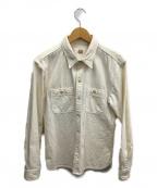 FLAT HEAD(フラット ヘッド)の古着「ワークシャツ」 ホワイト