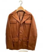 ABAHOUSE(アバハウス)の古着「ラムレザージャケット」|キャメル