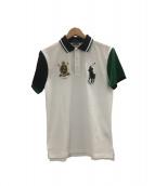 POLO RALPH LAUREN(ポロラルフローレン)の古着「ポロシャツ」|ホワイト×グリーン