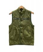 DENIM & SUPPLY RALPH LAUREN(デニムアンドサプライ ラルフローレン)の古着「中綿ベスト」|カーキ