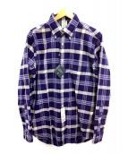 BROOKS BROTHERS(ブルックスブラザーズ)の古着「ボタンダウンシャツ」|ホワイト×ネイビー
