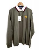 CANTERBURY(カンタベリー)の古着「ラガーシャツ」|オリーブ