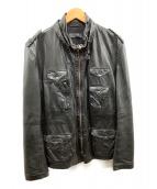 BARNEYS NEWYORK(バーニーズニューヨーク)の古着「レザージャケット」|ブラック