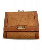ANNA SUI(アナスイ)の古着「2つ折り財布」 ブラウン