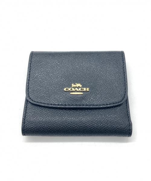 COACH(コーチ)COACH (コーチ) ミニ三つ折り財布 ブラックの古着・服飾アイテム