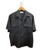 MARKA(マーカ)の古着「フラップポケットシャツ」|ブラック