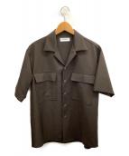 MARKA(マーカ)の古着「フラップポケットシャツ」|ブラウン