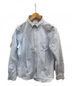 BROOKS BROTHERS Red Fleece(ブルックスブラザーズレッドフリース)の古着「切替ボタンダウンシャツ」|ホワイト×サックスブルー